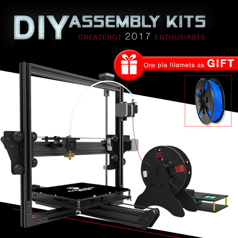 DIY Desktop prusa i3D Printer 214*202*230mm Printing size createbot  i3s001 3d Printer Kit Heated Bed 2.8inch touch screen