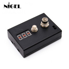 Nigel LED Resistance Tester OHM meter ohm reader for heating Coil Wire DIY Vape Tool E Cigarette 510 RDA vaporizer atomizer electronic cigarette accessories kit for rda rta atomizer ceramic tweezers coil jig plier screw heating wire resistance tester