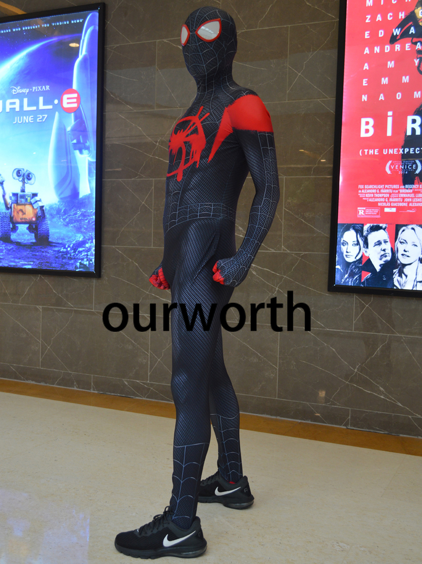 Miles  Costume Spandex Print Tight Newest Movie Miles  Cosplay Costume In Stock