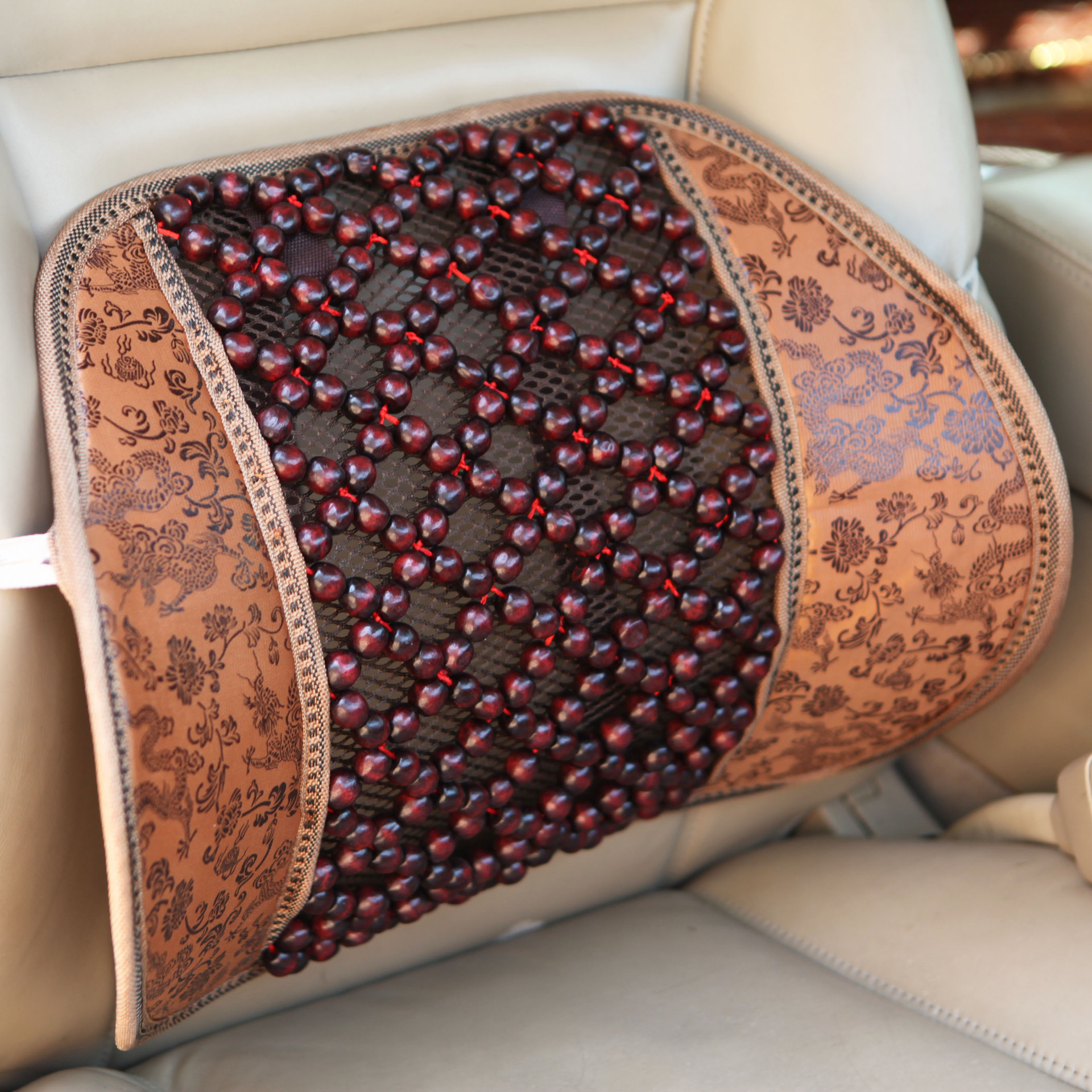office chair accessories for back pain bernina sewing sale top quality wood beads relief lumbar