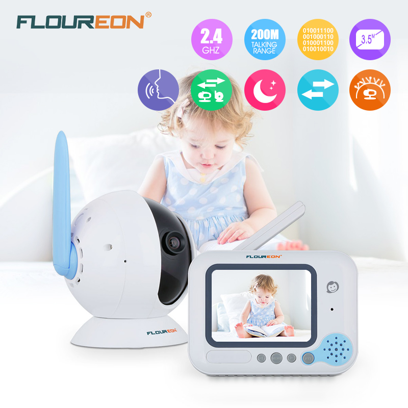Floureon 3.5 Inch Wireless Digital Baby Monitor Color LCD Two Way Talk Night Vision Audio Video Surveillance Security Camera floureon 3 5 inch wireless digital baby monitor color lcd two way talk night vision audio video surveillance security camera