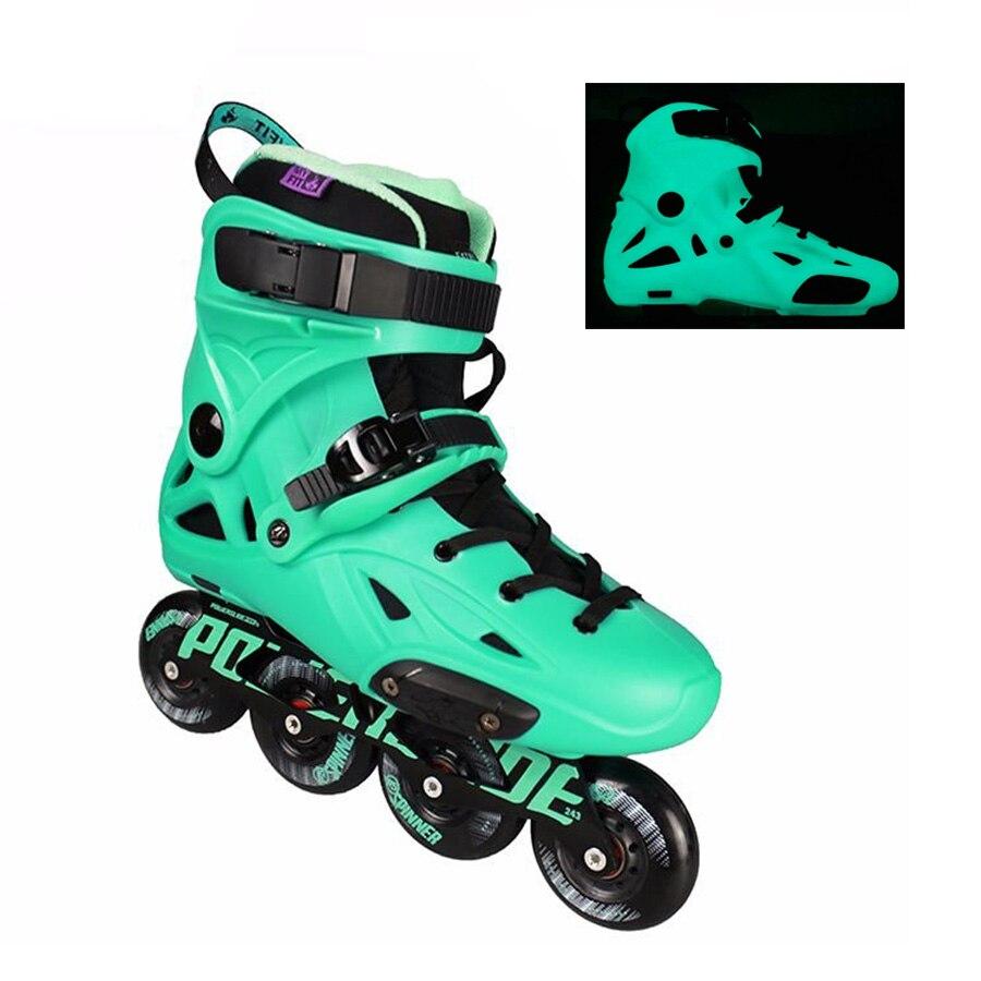 Original 2018 Powerslide Imperial Florescent Light professionnel Slalom patins à roues alignées chaussures de patinage sans patins Patines coulissantes