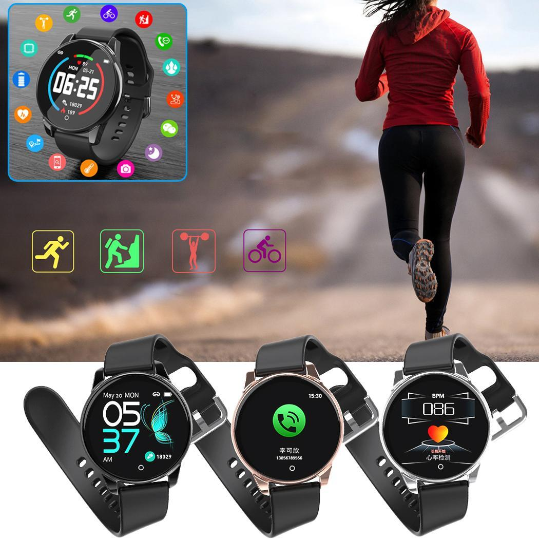 Heart Rate Blood Pressure Health Monitoring 1.3inch Sports 170 50g touch Waterproof Smart Bracelet Wristband(China)