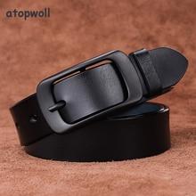 Hot Sale 2019 Female Belt Genuine Leather Women Pin Buckle Fashion Cowskin Strap Width 2.8 cm ceinture femme