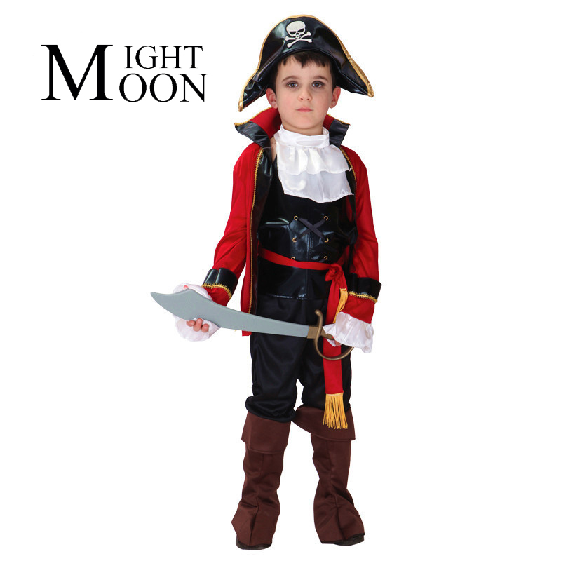 MOONIGHT Halloween Costumes for Children Kids Boys Pirate Costume Cosplay Disfraces Jack Sparrow Carnival Costume