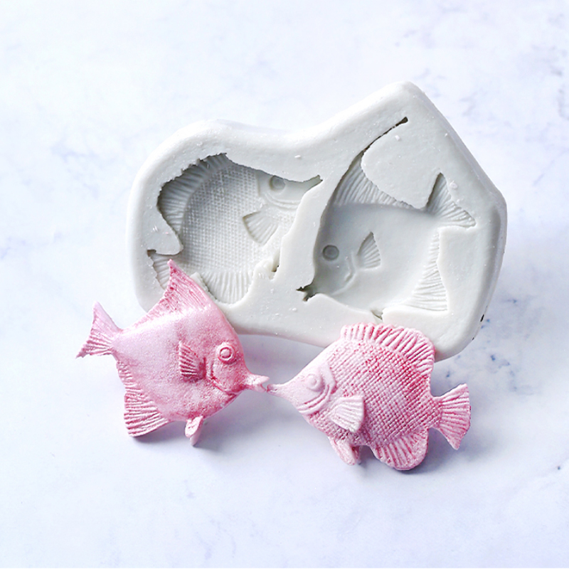 Ocean Series Tropical Fish Mould Silicone Mold Fondant Cake Decorating Tool Gumpaste Sugarcraft Chocolate Forms Bakeware