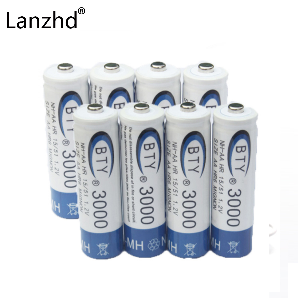 8Pcs 1.2v battery AA rechargeable batteries High quality original battery 1.2V AA high capacity 700MAH NI-MH battery