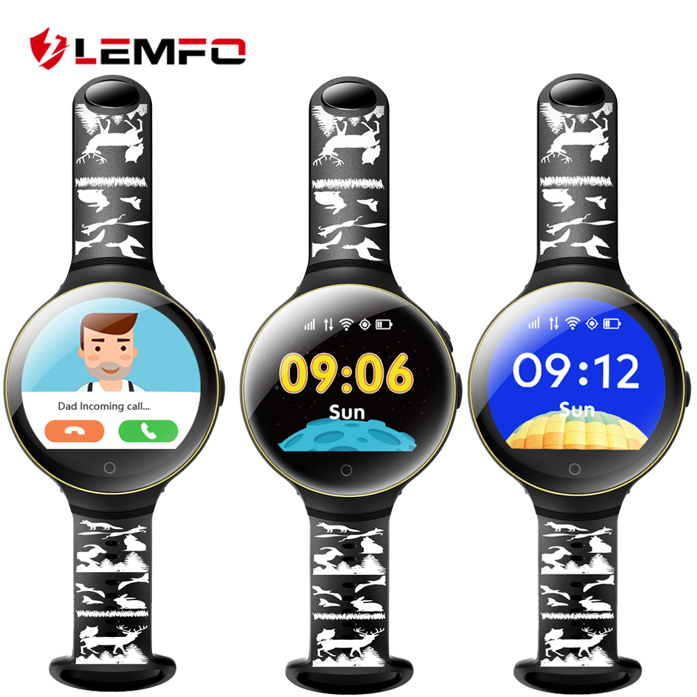 LEMFO Smart watch kids watches with sim card slot gps russian smartwatch smart baby watch for children Call Finder Locator