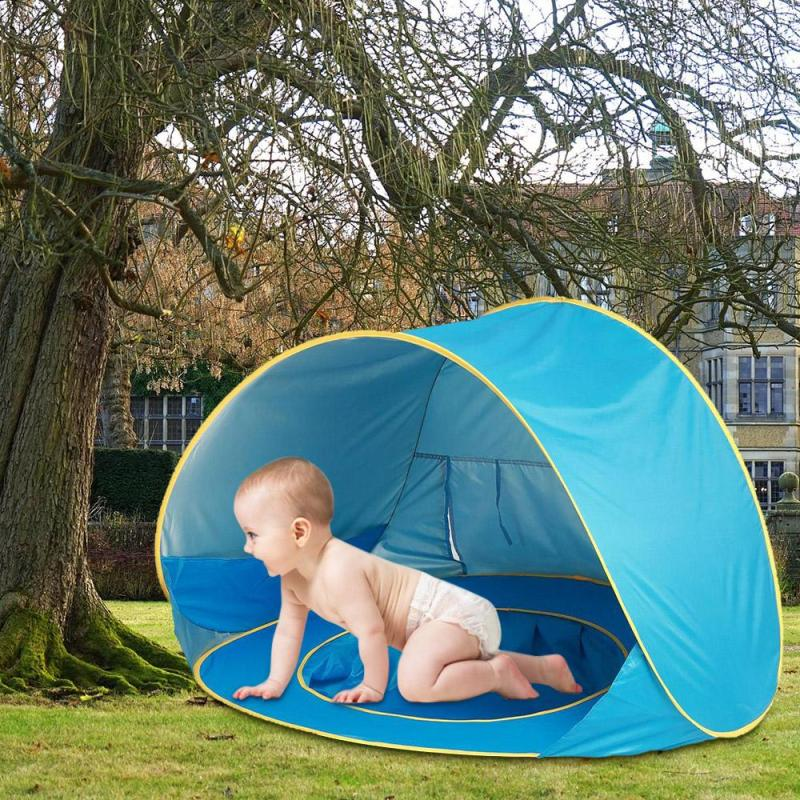 Foldable Outdoor Mosquito Net Canopy With Pool Kids Baby Beach Tent UV-Protecting Sunshelter Camping Sunshade S4