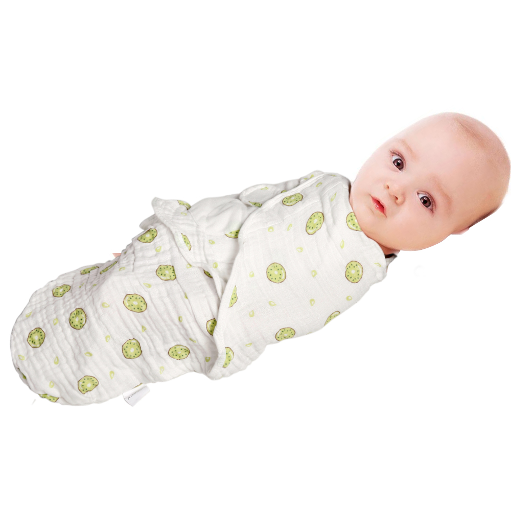 AINAAN Swaddle Blankets Can Adjustable Infant Baby Wrap For Baby Swaddling Wrap Blankets made in 4 Layers of Soft muslin Cotton