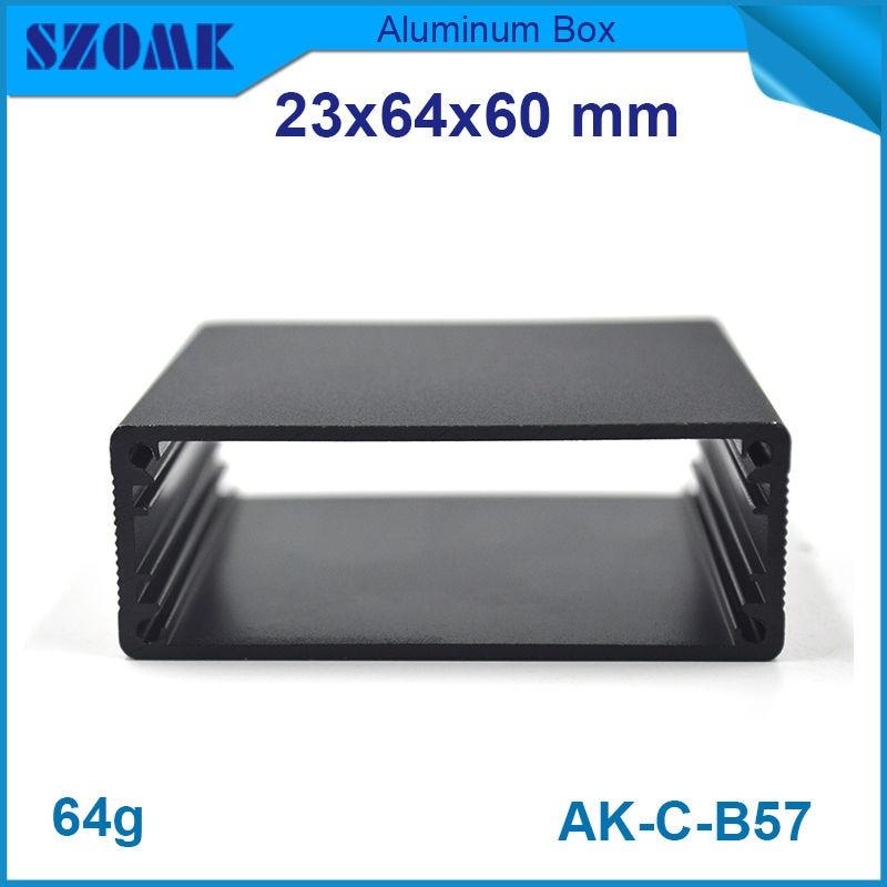 1 piece free shipping 23(H)x64(W)x60(L) szomk aluminum enclosure network equipment szomk aluminum 1 piece free shipping silver aluminum