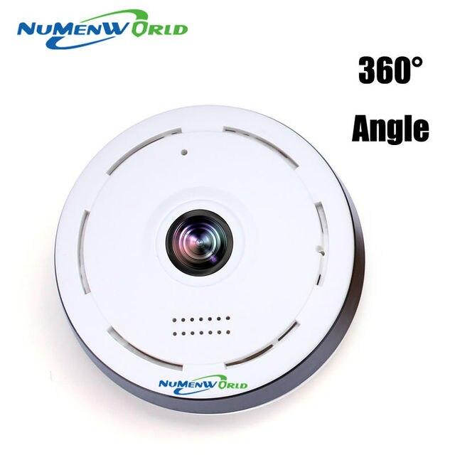 Смарт-панорамная камеры, вращающаяся на 360 градусов Поддержка IPC беспроводная IP-камера WiFi Режим Рыбий Глаз Двусторонне аудио P2P 960P HD