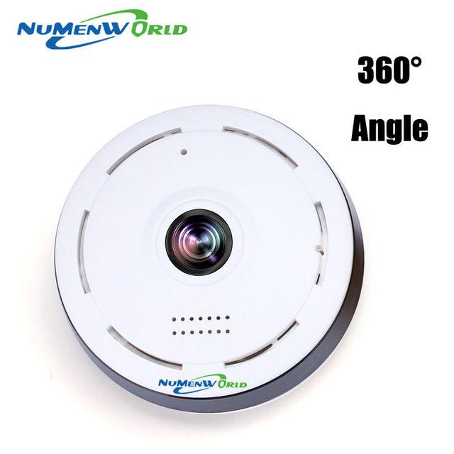 360 Graus inteligente panoramin IPC Câmera Olho de peixe IP Sem Fio Suporte de Duas Vias de Áudio P2P 960 P HD da câmera do wifi