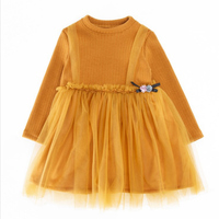 2017 Girls Dress striped New Autumn Children's princess Dresses Ball Gown Mesh sashes Kids Dresses for 2-6Y Baby Girls