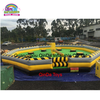 Outdoor adult carnival games wipeout inflatable eliminator / inflatable meltdown game sale