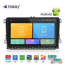 Hikity 2 Din GPS автомобильный радиоприёмник 9 дюймов Android 6,0 Автомобильный мультимедийный MP5 плеер Поддержка Зеркало Ссылка и камера заднего вида для Автомобили VW