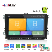 Hikity 2 Din GPS Car Radio 9 Inch Android 6.0 Car Multimedia MP5 Player Support Mirror Link and Rear View Camera for VW Cars