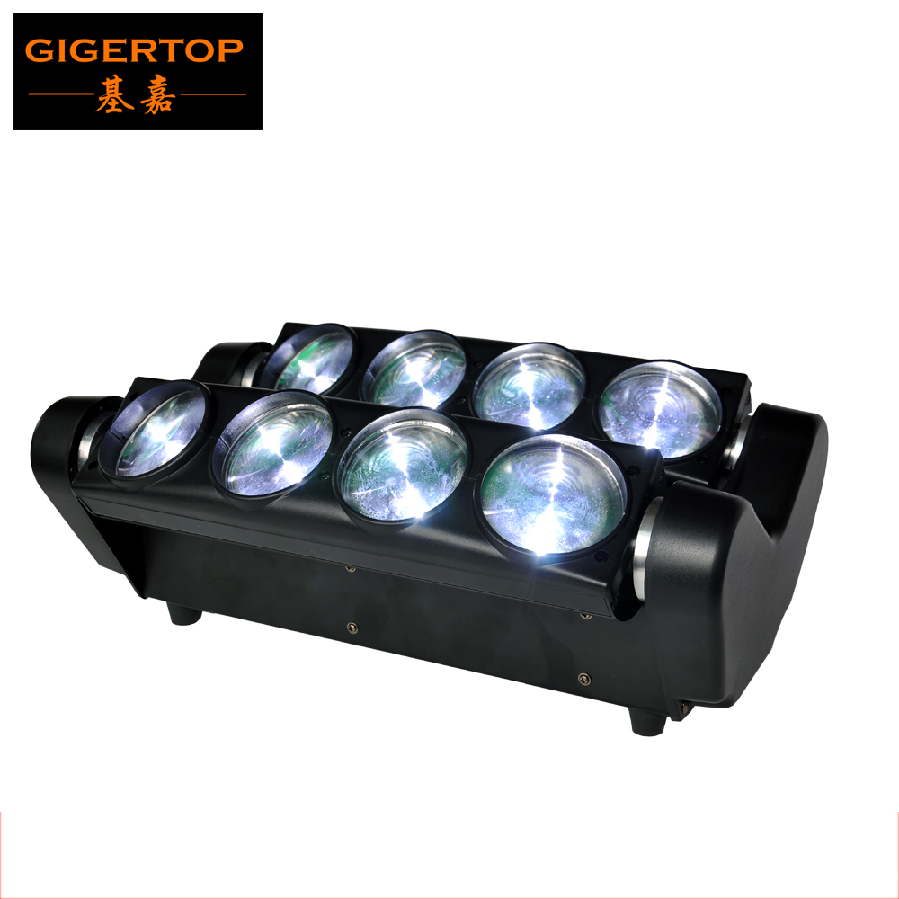 Top Quality ! High Brightness Full Color 8 Eyes Moving Head Beam Light 8*10W White Color LED Beam Light DJ Club Spider Scanner top high speed full teeth piston