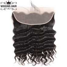 Wiggins Hair 13×4 Pre Plucked Lace Frontal Loose Deep Wave Closure Brazilian Remy Hair With Baby Hair Natural Color