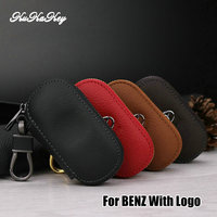 Kukakey Fashion Leather Key Case Bag Pouch Purse Wallet Cover Car Logo Keychain For Benz Mercedes