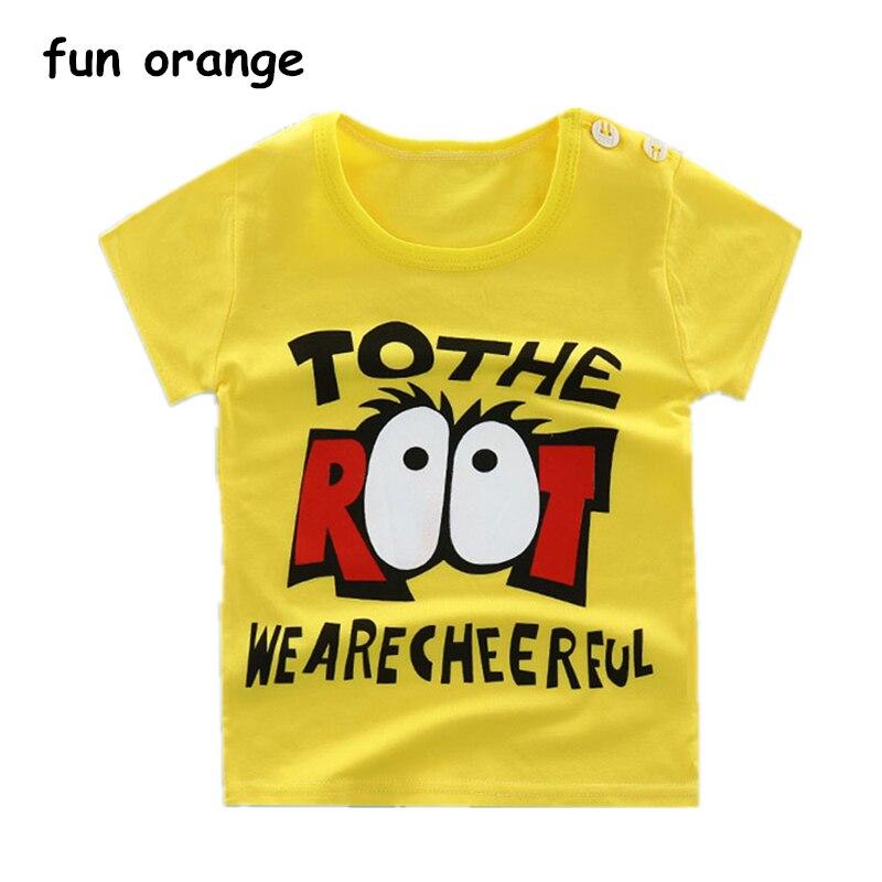 Fun Orange Summer Cotton Baby Boys Girls T-Shirts Short Sleeve Children Kids Cartoon T s ...