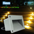 Super bright 3x3W Aluminium led footlight IP68 Waterproof LED Wall Corner Light stair lights Square outdoor step path lights