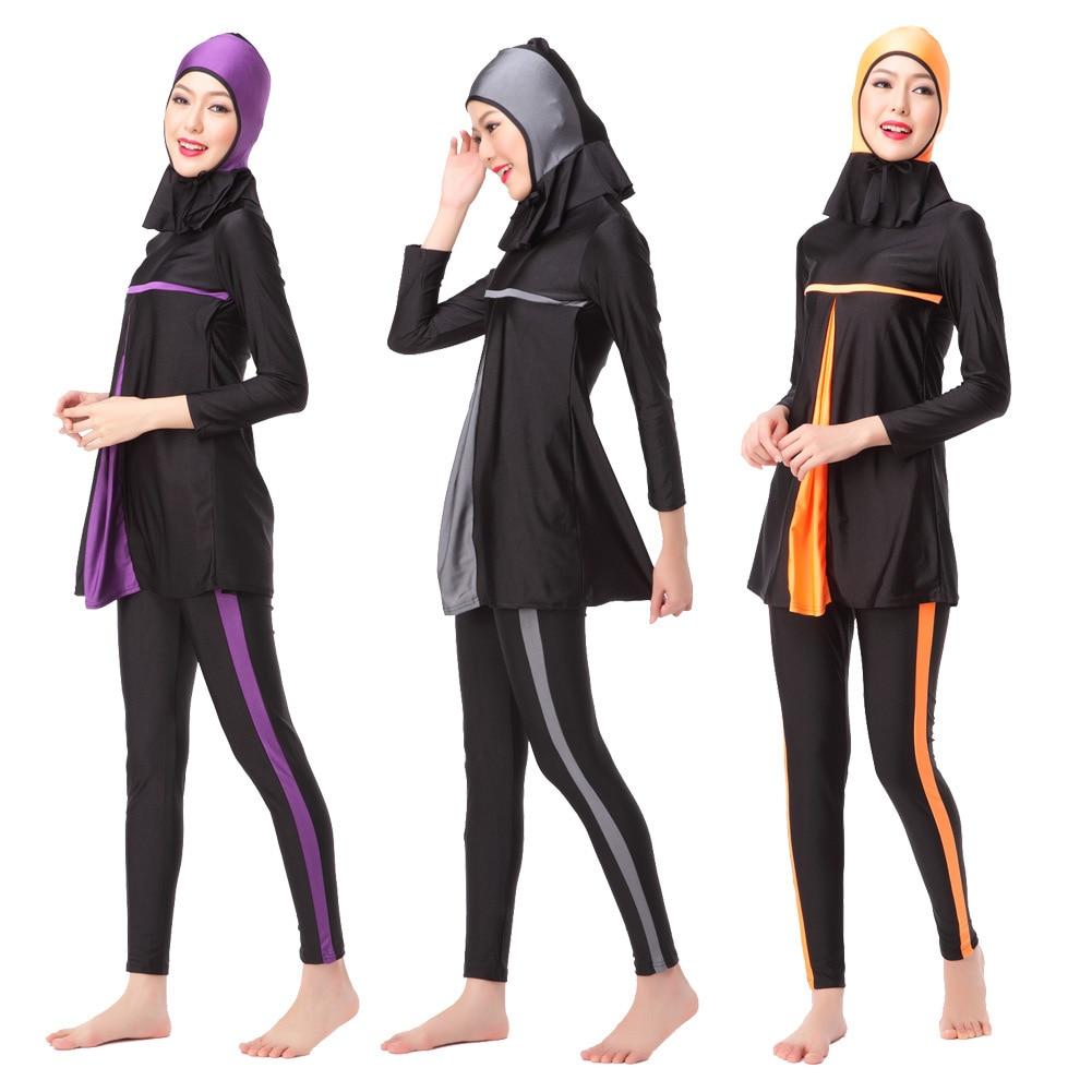 0f38d5f53a Ladies Full Cover Muslim Swimwears Womens Swimsuits Arab Islam Beach Wear  Long Modest Islamic Hijab Swimming
