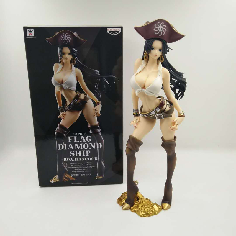 anime sexy figure one piece portrait of pirates pop boa hancock ver 3d2y pvc action figures collection model toys doll 23cm NEW ARRIVALS One Piece Anime Boa Hancock Flag Diamond Ship FDS ver. Boxed 23cm PVC Action Figure Collection Model Doll Toys