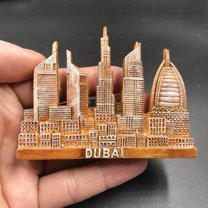 Image 5 - 1Pcs Fridge Magnet Sticker Creative Dubai VERSAILLES GREECE  VIENNA Tourist Souvenir Refrigerator Stickers For Home Decor