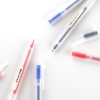 10pcs MUJI Gel Pen Black Blue Red Ink Color Pens 0 5mm 0 38mm Cute Pens
