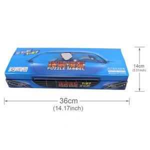 Image 4 - C8704 16 ชิ้น 4D รุ่นชุด 1: 87 HO Scale ปริศนารถยนต์รถไฟเค้าโครงใหม่ DIY 16 รูปแบบ