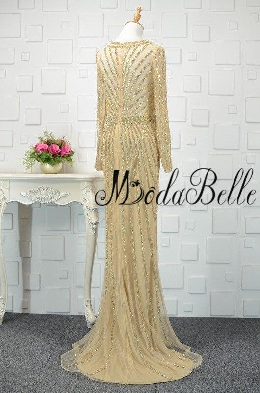 modabelle Ντουμπάι χρυσό φόρεμα με μακρύ - Ειδικές φορέματα περίπτωσης - Φωτογραφία 4