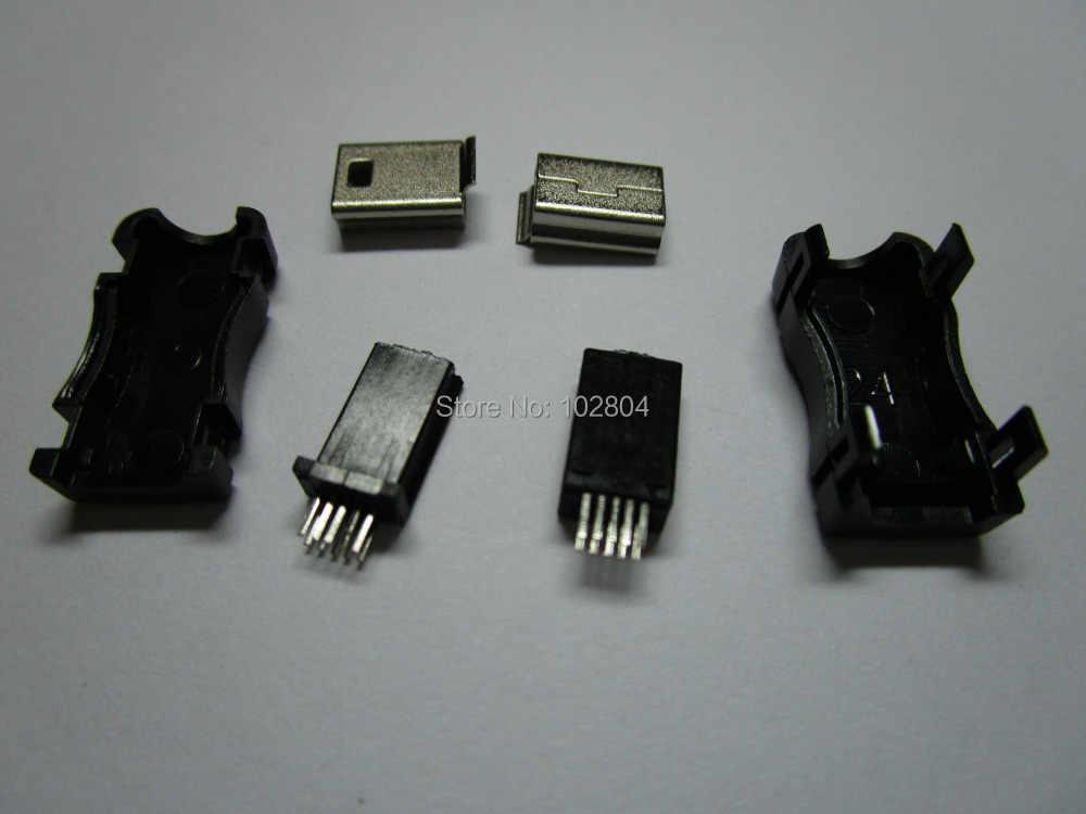 200 шт. в партии мини USB разъем Разъем 10 контактный пластиковый корпус продукты|socket