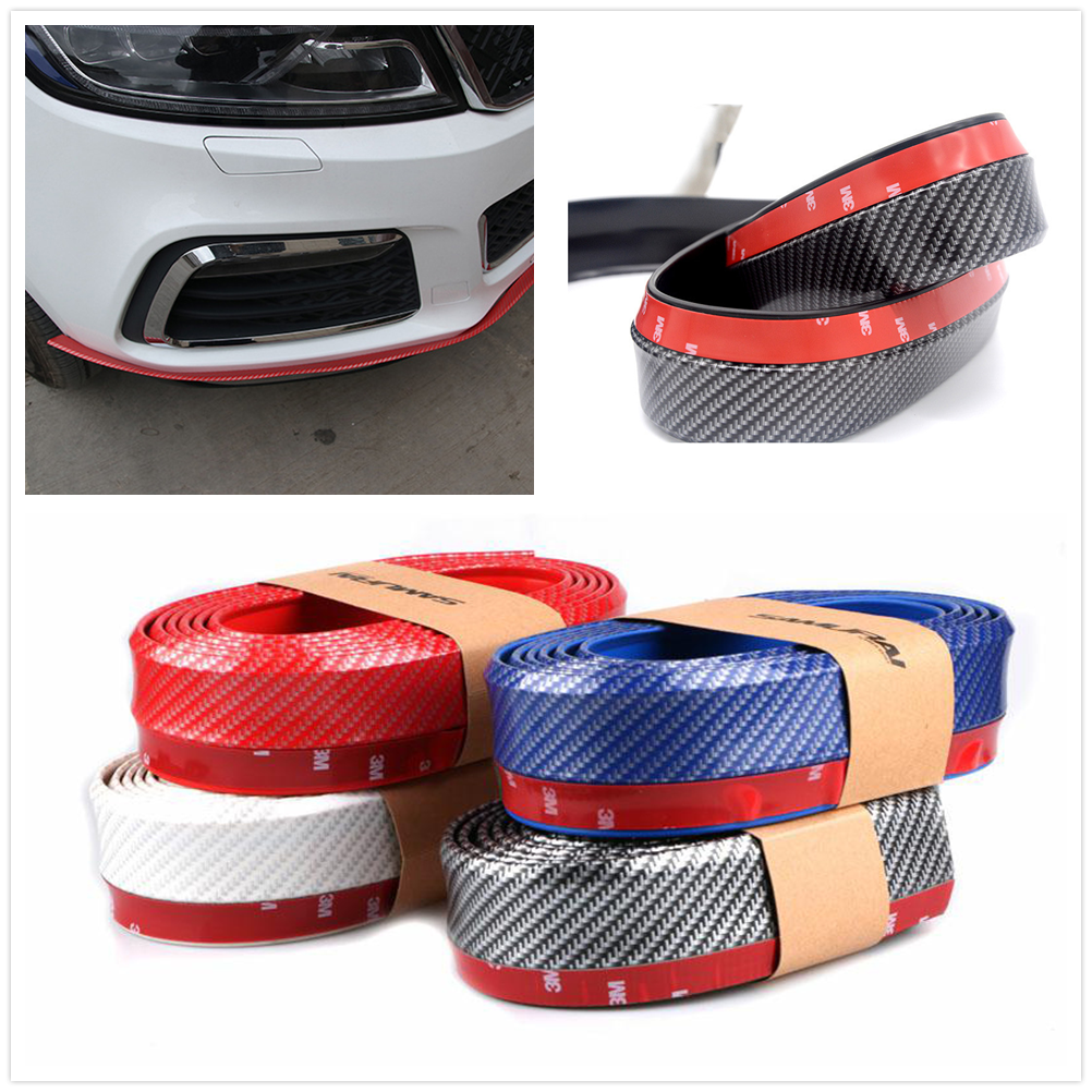 Car Rubber Bumper Strip 2.5m <font><b>Front</b></font> <font><b>Lip</b></font> Trunk for Mercedes <font><b>Benz</b></font> W211 W203 <font><b>W204</b></font> W210 W124 AMG W202 CLA W212 W220 CLK63 R F700 image