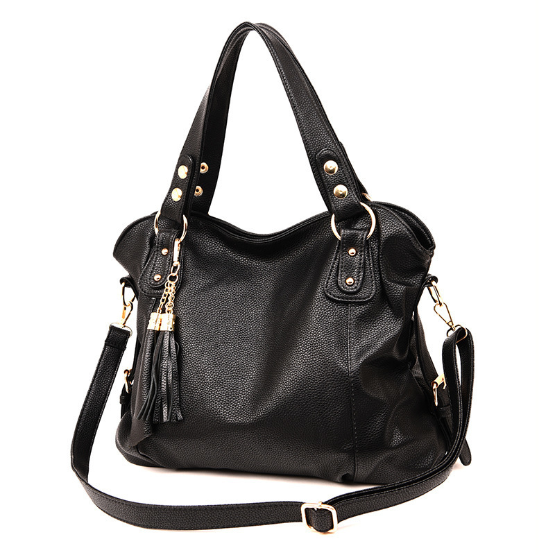 Tassel Genuine Women Leather Handbags Women's Shoulder Bag Female Designer Big Handbags Handbag Lady