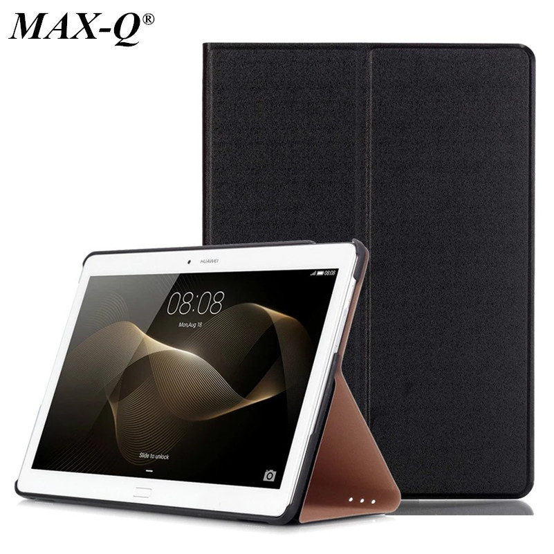 MAX-Q pure colour Pu Leather Case for Huawei MediaPad M2 10.0 inch A01W,high quality pu Leather cover Tablet pc