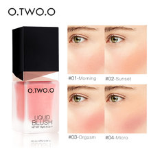 O.TWO.O Face Contour Make Up Professional Blush Natural Long Lasting Liquid Blush Makeup Cheek Silky Pink Color Blusher Cosmetic(China)