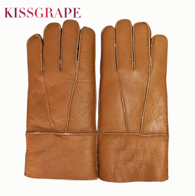 Russian Winter Super Warm Gloves Men Genuine Sheep Fur Mittens Male Outdoor Driving Motorcycle Gloves Soft Warm Windproof Gloves