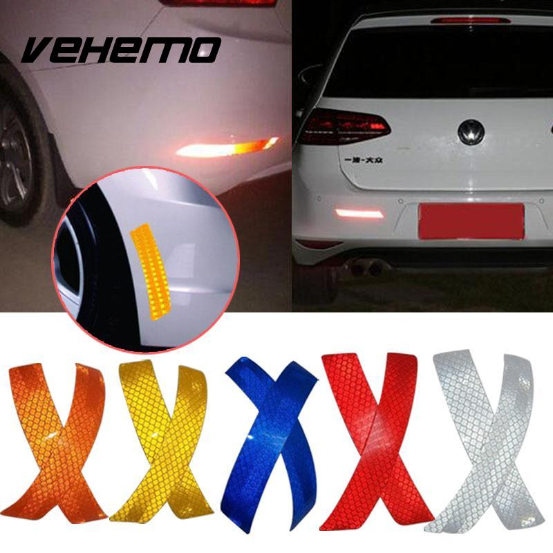 2017 NEW Car Wheel Eyebrow Reflective Warning Strip Stickers Reflector Protective Tape Auto Supplies 14*2.3CM PET 5 Colors