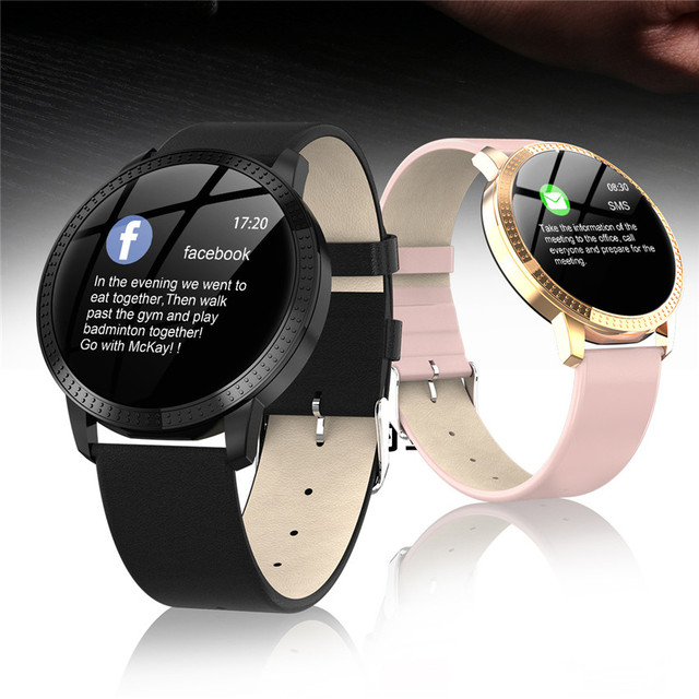 Smart watch VS V11 Q8 P68 waterproof Tempered glass Activity Fitness tracker Heart rate monitor BRIM Men women smartwatch CF18