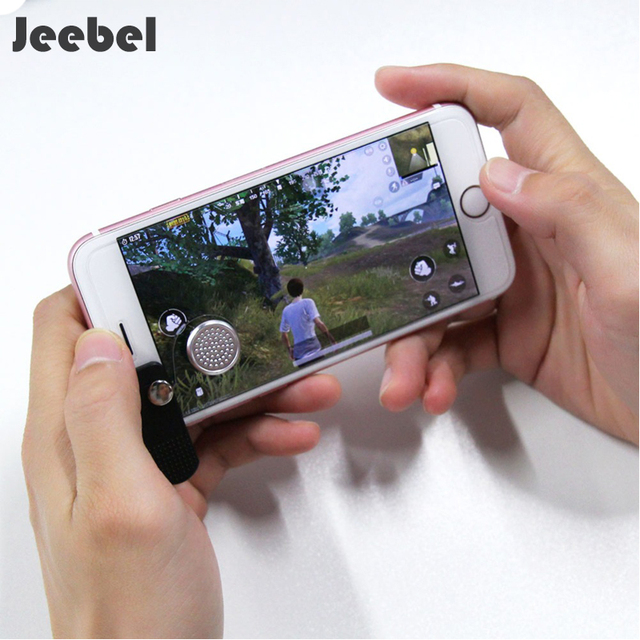 Jeebel Joystick Phone Smartphone Mini Touch Screen Joystick Clip-on Clamp Phone Arcade Game Joystick For PUGB Mobile TPS Gaming