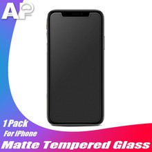 Acespower 9H Matte Case Friendly Tempered Glass Film for iPhone X XS MAX XR 5 6 7 8 Plus Frosted Screen Protector No Fingerprint