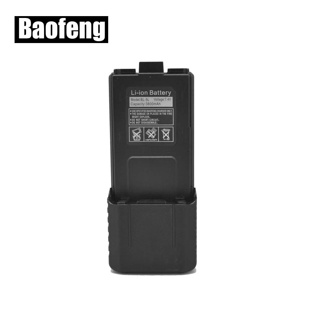 BaoFeng 7.4V 3800mAh Li-ion Battery For Two Way Radio Interphone Transceiver Walkie Talkie UV-5R UV-5RA UV-5R+ 5RE PLUS