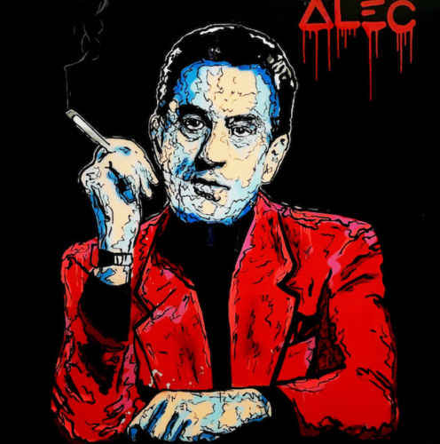 100%Handmade Alec Monopoly oil Painting on Canvas graffiti art Robert De Niro Casino