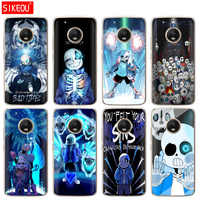 silicone case phone cover For Motorola Moto G6 G5 G5S Z2 Z3 PLAY PLUS X4 E4 E5 C undertale papyrus sans doggo