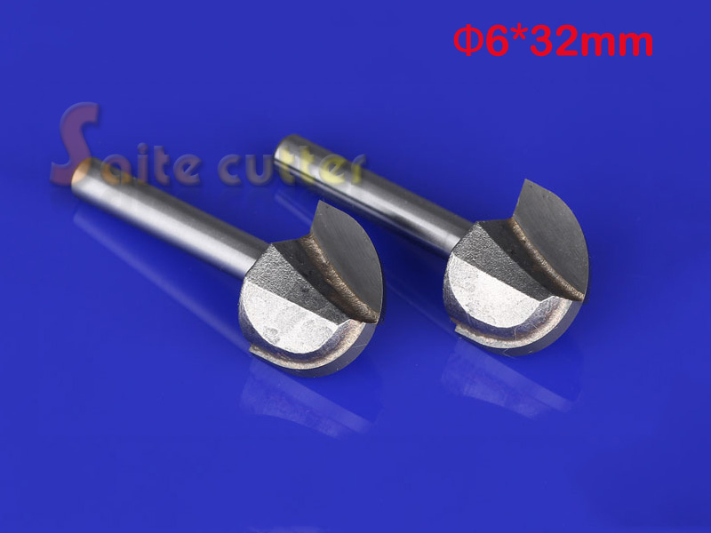 2pcs/lot 6mm*32mm Free shipping CNC Computer engraving tools Carbide Round bottom router bit Woodworking milling cutter 1pc bottom engraving router bit 10 30mm carbide milling cutter for wood particleboard mdf woodworking tools