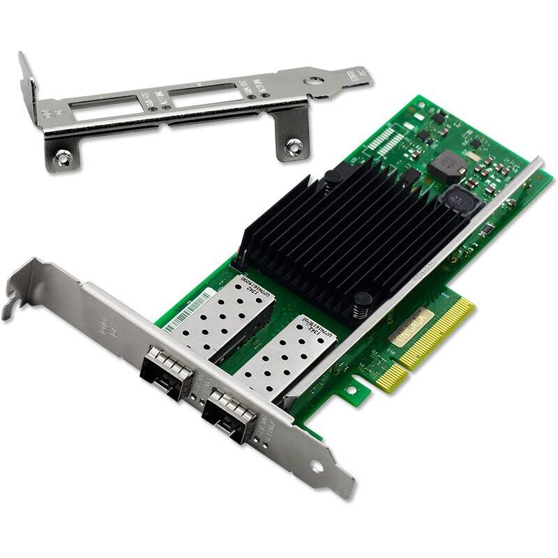PCIe X8 10Gb/s Dual Port SFP+ Fiber Ethernet Network Card Chipset for Intel X710