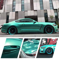 New CARBINS Vinyl Car Wrap Product! Eletric Tiffany Blue Color Wrapping Paper