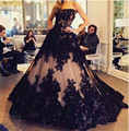 Amazing Ball Gown Appliques Lace Bodice Evening Dress Long Evening Party Dresses Custom Made Gowns