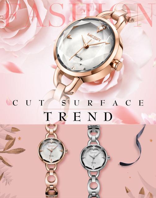 MEGIR 2019 Elegant Dress Ladies Quartz Watch Rhinestone Design Stainless Steel Strap Fashion Women Watches Top Brand Luxury